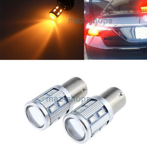 2pcs Amber 1156 7507 Py21w Cree Led Rear Turn Signal Light For 2018 2019 Accord