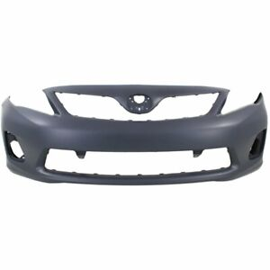 Front Bumper Cover For 2011 2013 Toyota Corolla Base Ce L Le Usa Built Primed