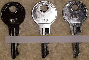 Set Of 3 Oem Top Keys 157 158 159 For The Vendstar Candy Machine Machines