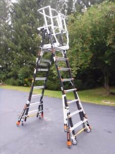Little Giant 18515 240 Safety Cage 8 14 1aa 375lb Adjustable Platform Ladder