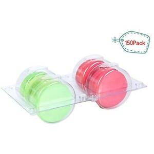 Plastic Clear Storage Organization Macaron Insert With Clip Closure Holds 4 Of