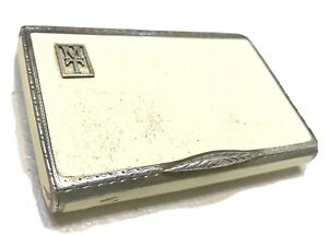 Vintage Antique Austrian Sterling Silver 925 Enameled Cigarette Case London Imp