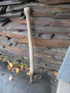 Vintage Cant Hook 42 Log Roller Peavey Lumber Jack Mill Signed Champion