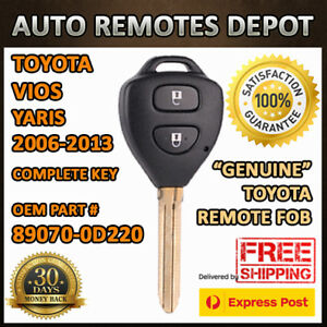 Genuine Toyota Yaris Vios 2006 2013 Remote Fob Key Transmitter 89070 0d220 Chip