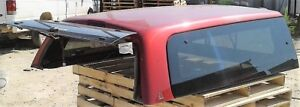 Leer Fiberglass Pickup Truck Topper Cap Red For 2005 Dodge Ram 2500