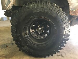 Set Of 5 Mickey Thompson Baja Mtz 33 Inch Tires And Jeep Wheels 33 By 12 50 R15