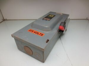 Square D H363 Disconnect Box 100amp 600v Safety Switch
