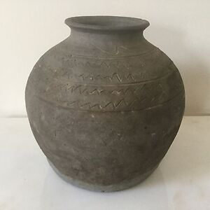 Korean Silla Period Dynasty Pot Antique C 668 935 Unglazed Gray Stoneware 2215