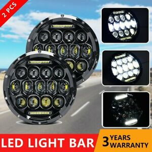 75w 7inch Round Led Headlight Projector Drl Hi Lo Beam For Freightliner Century