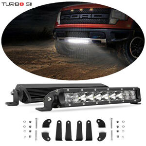 2x Single Row 10inch 50w Led Light Bar Slim Offroad Combo Driving Light 4wd Boat