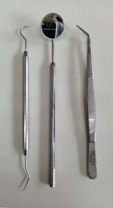 Dental Stainless Steel Instruments Pmt Kit Of 3 Pcs By Visa Germany Free Ship