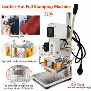 Leather Hot Foil Stamping Embossing Machine 4 X5 Pressing Marking 220v Digital