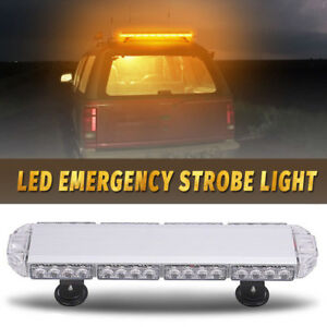 23 Inch 168w Led Amber Warning Emergency Beacon Strobe Light Bar Roof Tow Truck