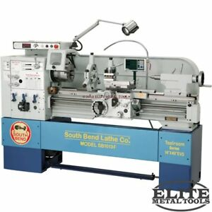 New South Bend 14 X 40 Evs Lathe With Fagor Dro Sb1013f