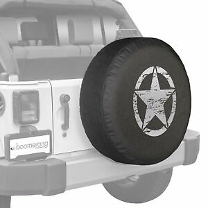 32 Oscar Mike Star Spare Tire Cover Fits Jeep Wrangler Freedom Silver