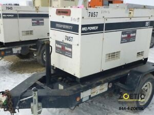 Multiquip Dca15spx3 15kw 18 75kva Portable Diesel Generator On A Trailer