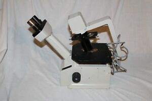 Nikon Tms Inverted Phase Contrast Microscope Two Objectives