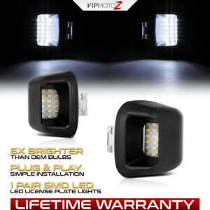 Brightest Led License Plate Light Lamp Housing For 2005 2018 Nissan Frontier
