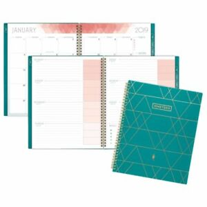 At a glance Inkwell Press Weekly monthly Livewell Planner 7 X 9 Teal