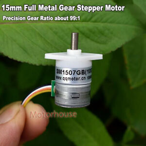 Micro 15mm 2 phase 4 wire Gear Stepper Motor Mini Precision Reduction Gearbox