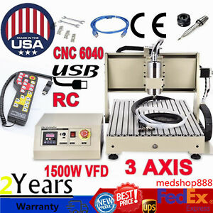 1500w Cnc6040 3 Axis Engraver Usb Router Engraving drill mill Machine controller