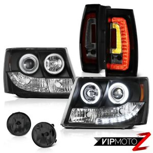 07 13 14 Chevy Tahoe Black Projector Head Lamps Rear Dark Smoke Spot Replacement