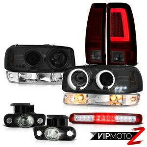 99 02 Sierra Slt Taillamps Red Roof Cab Light Parking Fog Lights Headlamps Led