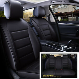 New 5d Luxury Pu Leather Auto Car interior Styling Car Seat Covers Front Rear