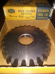 National Tool Gear Shaper Cutter 6 7 D p 24t 17 5pa 361w d M 2 3 8115 Base