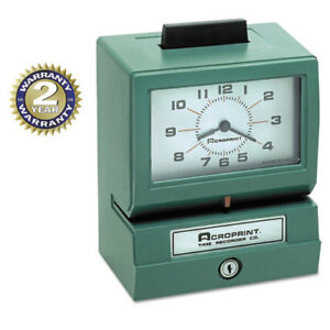 Model 125 Analog Manual Print Time Clock With Date 0 23 Hours minutes