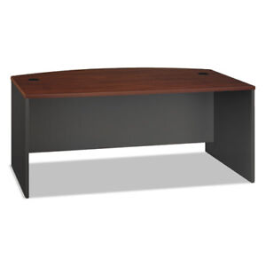 Series C Collection 72w Bow Front Desk Shell Hansen Cherry