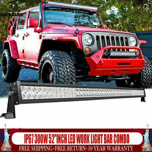 Cree 52 inch Led Work Light Bar Combo Truck Offroad Suv Boat Driving Lamp Jeep