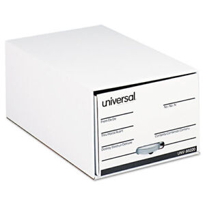 Storage Box Drawer Files Legal Fiberboard 15 X 24 X 10 White 6 carton