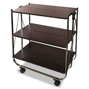 Click n fold Utility Cart 26 1 2w X 15 3 4d X 31 1 2h Chrome brown