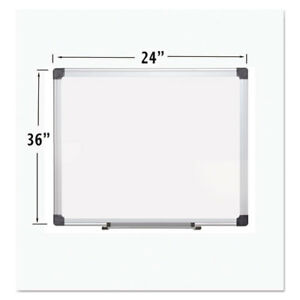 Porcelain Value Dry Erase Board 24 X 36 White Aluminum Frame