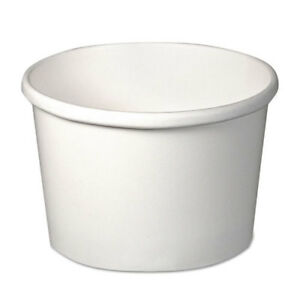 Flexstyle Double Poly Paper Containers 8 Oz White 25 pack 20 P
