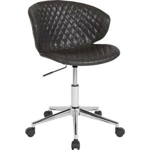 Cambridge Home And Office Upholstered Mid back Chair In Gray Vinyl