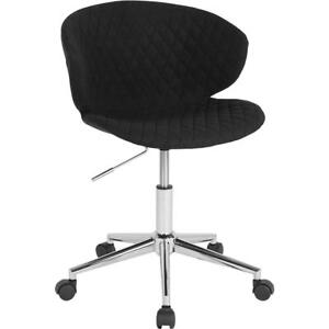 Cambridge Home And Office Upholstered Mid back Chair In Black Fabric