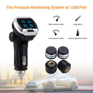 Car Wireless Tire Pressure Monitor System Tpms Cigarette Lighter For Toyota Ford