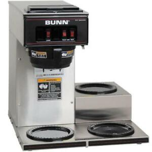 Bunn 13300 0003 Vp17 3 Low Profile Pourover Coffee Brewer With 3 Warmers