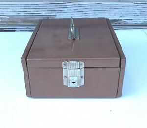 Vintage Metal Cash Document Box No Key Office Supplies Opens