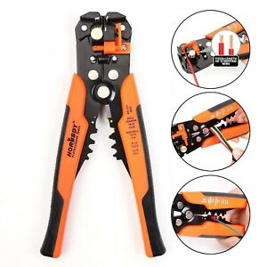 Wire Stripping Tool Electrician Pliers Crimper Cable Cutter Clip Shears 10 24awg
