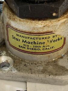STAR MACHINE WORKS BULLET LUBE SIZER LUBRICATOR CAST BULLET SIZER CHECK IT OUT!!