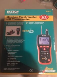 Extech Mo297 Pinless Moisture Psychrometer With Ir Thermometer And Bluetooth Me