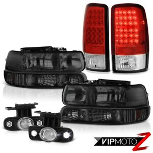 00 06 Chevy Tahoe Tinted Signal Headlights Led Tail Lights Projector Driving Fog