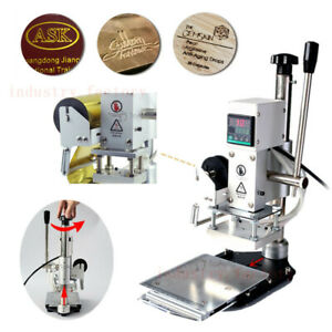 5x7cm Logo Press Marking Machine Hot Foil Stamping For Leather Pvc Bronzing 300w