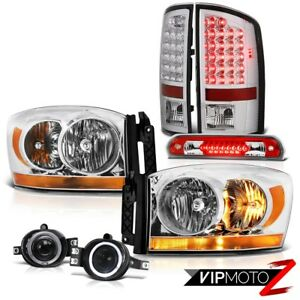 07 08 Dodge Ram 1500 Slt Chrome Headlights Foglamps High Stop Lamp Taillights