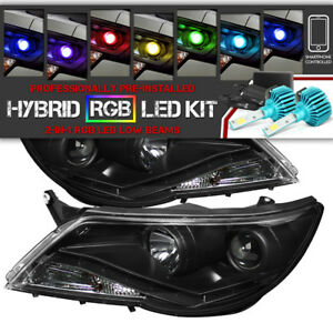 remote Color Led Low Beam Halo Headlights 2009 2011 Volkswagen Tiguan S se sel
