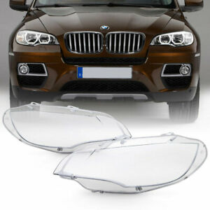 extra Clear heavy Duty 08 14 Bmw E71 X6 Replacement Headlight Lamp Cover Lens