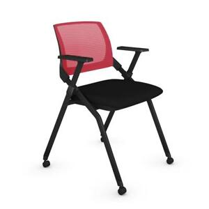 Bestar Black And Red Nesting Chair 2 pack